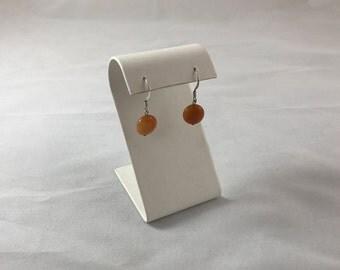 Carnelian sliver earring