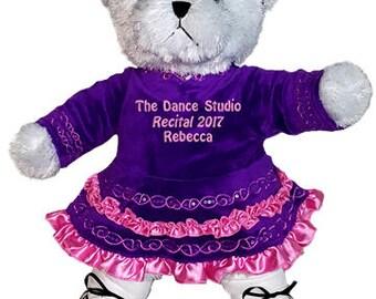 Personalized Irish Step Dance White Girl Bear