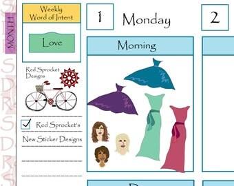Wedding - Bridesmaids & Dresses Planner Stickers (W02)