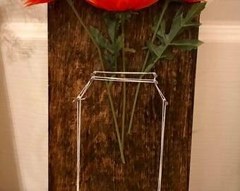 Flower Holder Wall String Art