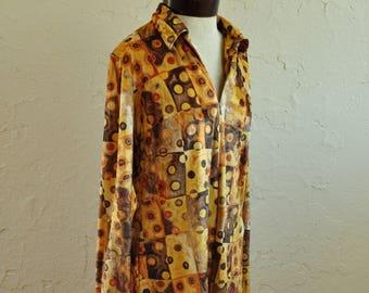 The Lizzie: 90s Velvet Graphic Zipper Shift Dress