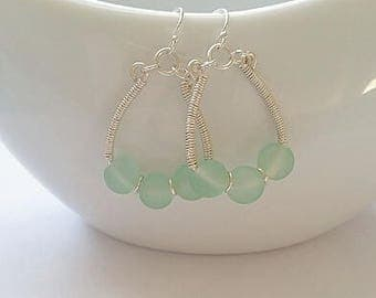 Seaglass Boho Earrings