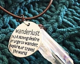 Bohemian Wanderlust Wrapped Gemstone Necklace
