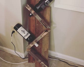 Wine Rack from reclaimed wood