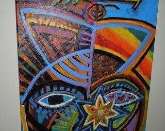 Funky canvas art
