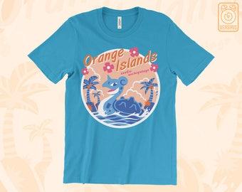 Orange Islands T-SHIRT // Pokemon Lapras // 90s Nostalgia Anime // Mens & Womens Sizes // Gamer Gifts
