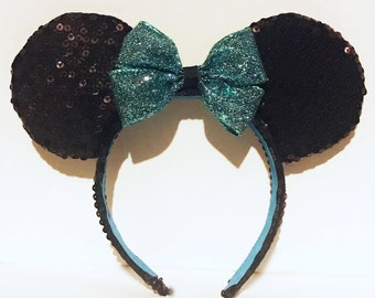 Sequin Minnie Ears with Interchangeable Bow