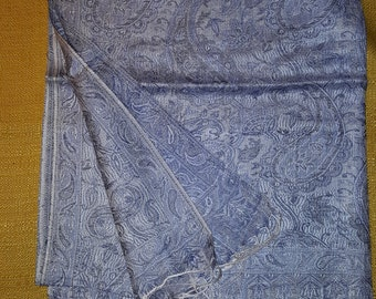 Handmade Indian Silk and Cashmere Scarf