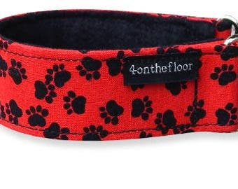 Tippy Toes Red Martingale collar