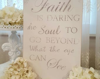 Faith Wooden Hanging Sign