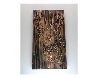 Wood Art 6 - Gold/Brown