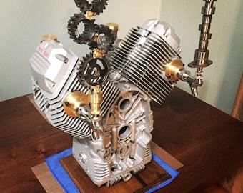 Motorcycle Engine Beer Tap