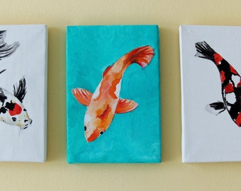 Acrylic carp Koi fish series