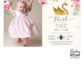 Swan princess invite Etsy