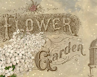 Flower Garden Girl Header Banner