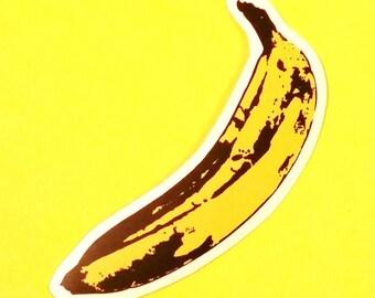 Banana Andy Warhol Foundation Nico Velvet Underground Bright Yellow Waterproof Vinyl Sticker