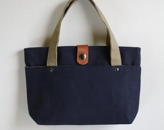 carry bag - midnight blue + sand grain