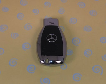 8GB Mercedes Benz USB Flash Drive in the style of a Car Key! CUSTOM Laser Engraving on back!