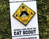 Cat Scout Enamel Pin