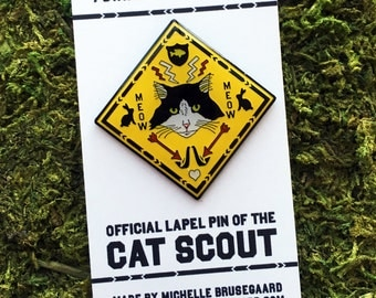 Cat Scout Enamel Pin
