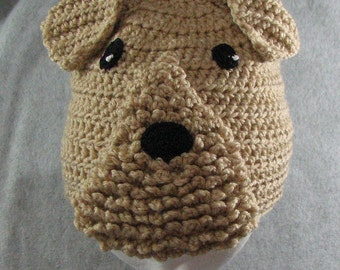 Airedale Hat Crochet Pattern In USA Terms, PDF, Digital Download