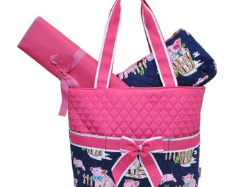 Little Piggie Diaper Bag - Personalized Diaper Bag - Monogrammed Diaper Bag - Girl Diaper Bag - Monogrammed Diaper Bag - Embroidered Bag