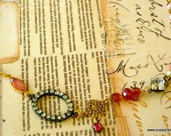 Boho Beaded Charm Necklace