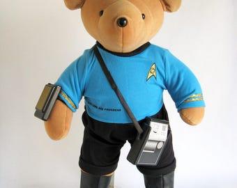 Vintage Mr. Spock from Star Trek North American Bear Company Stuffed Animal Large Teddy Bear Doll Barbara Isenberg Designs Vulcan