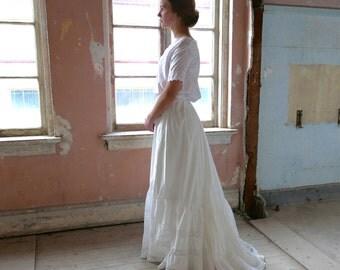 "Antique Trained Petticoat Slip 24"" to 25"" Waist"