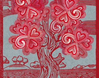 Tree of Hearts Print