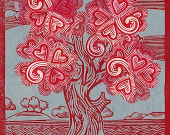 Tree of Hearts Print