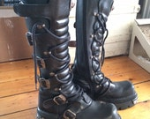 New Rock Reactor Knee-high Boots. EU40 - US M 7 -US W 9. Hardly worn. Free Shipping in the US.