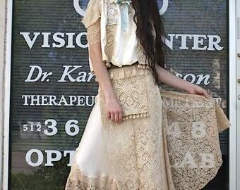 SET dress and Jacket Boudoir Queen Original Lace Dress Baby Jane Bed Jacket