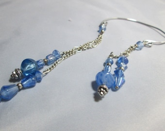 Blue Ear Cuff Earring