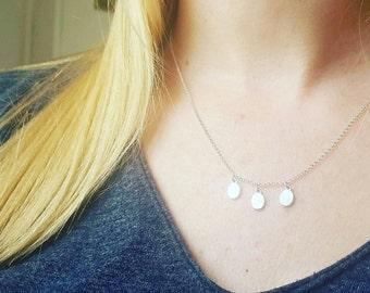 Minimalist Dainty Amulet Necklace. Delicate Sterling Silver Chain necklace. Tiny Sterling Silver Necklace.