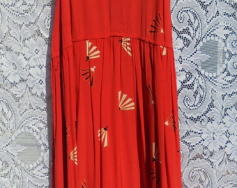 Red silk dress 70s does 20s flapper Gatsby oriental style   small  from vintage opulence on Etsy