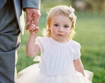 Flower Girl Tutu Custom - Long Tutu for Girls Weddings