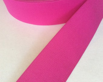 FOR SARAH - 2 YDS - Deep pink elastic, 2 inches wide