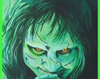 Exorcist - Regan - Linda Blair ART PRINT