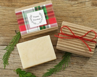 Tea Tree Peppermint Soap | Herbal Soap, All Natural Soap, Essential Oil Soap, Cold Process Soap, Wake Up, Anti-Fungal Antiseptic, Gift Wrap