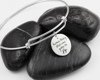 Given To Fly. Lyrics. Quotes. Music. Personalize. Healing Stone. Custom. Moonstone. Sterling Silver. Bangle. Memorial.
