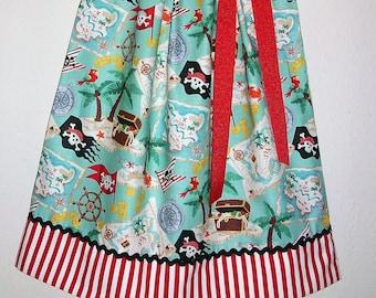 Girls Dress, Pillowcase Dress, Pirate Dress, Pirate Party, Pirate Clothes, Treasure Map, Girls Pirate Dress, Pirate Birthday, Treasure Chest