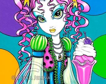 Molly Rainbow Sherbet Soda Shop Fairy 8x10 Signed PRINT Myka Jelina