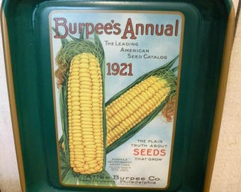 Vintage Burpee Seed Sweet Corn Advertising Tray collector series No Scratches ECS RDT SVFTeam FVGTEAM