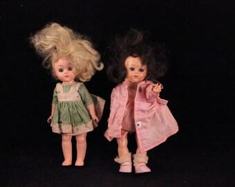 Pair of Vintage Blonde and Brunette Vogue Dolls