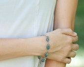 Peridot, Apatite & Fluorite Bracelet, Yoga Jewelry, Gemstone Healing Bracelet