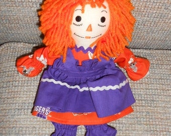 15 inch Clemson Raggedy Ann Doll