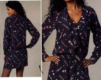 Vogue V1226 Rebecca Taylor Easy Drop Waist Dress Size 14 16 18 20 Uncut Sewing Pattern 2011