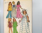 1970s Vintage Sewing Pattern Simplicity 6061 Teenage Fashion Doll 17 1/2 Inch Wardrobe 1973 70s