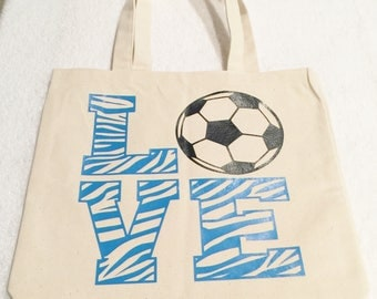 Soccer Tote Bag Bags And Purses Tote Bags Natural Canvas Tote Sport Bag